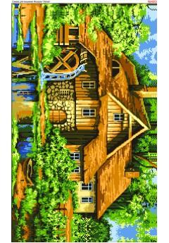 Схема вишивки бісером (хрестиком) Будинок у лісі (4007)