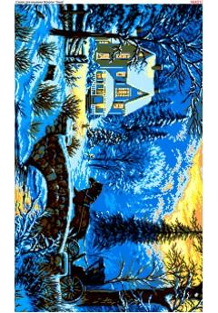 Схема вишивки бісером (хрестиком) Зима (4010)