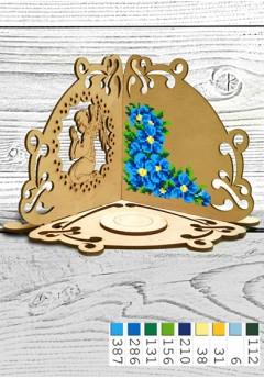 Підсвічник *Голубі квіти* (51003)
