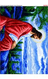 Схема вишивки бісером (хрестиком) «Ісус в Єрусалимі (599)»
