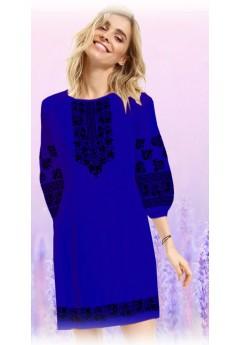 Плаття, синій габардин (60112)