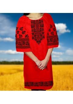 Плаття, червоний габардин (60112)