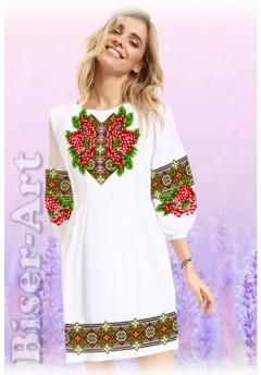 Плаття, льон білий (60114)