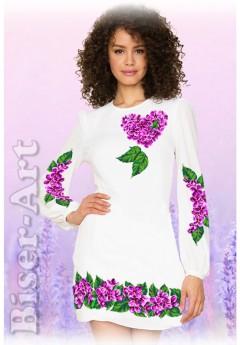 Плаття, льон білий (60115)