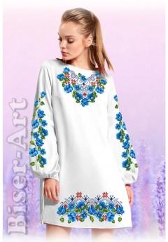 Плаття, льон білий (60116)