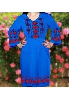 Плаття, синій габардин (6045)