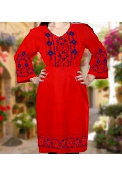 Плаття, червоний габардин (6045)