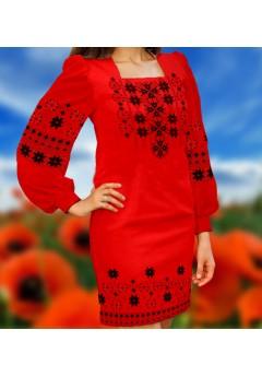 Плаття, червоний габардин (6046)