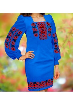 Плаття, синій габардин (6061)
