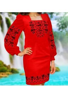Плаття, червоний габардин (6061)
