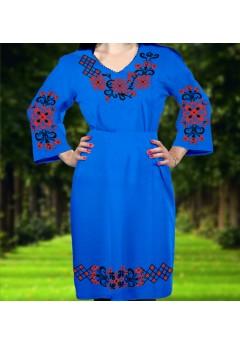 Плаття, синій габардин (6062)