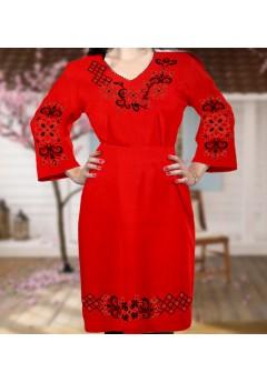 Плаття, червоний габардин (6062)