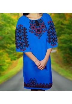 Плаття, синій габардин (6065)
