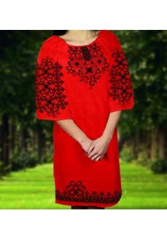 Плаття, червоний габардин (6065)