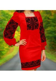 Плаття, червоний габардин (6068)