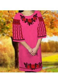 Плаття, малиновий габардин (6069)