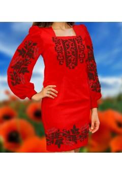 Плаття, червоний габардин (6070)