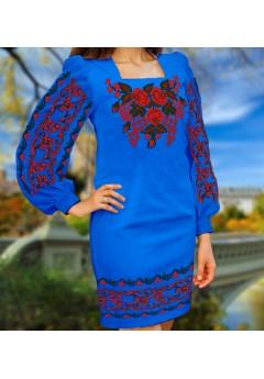 Плаття, синій габардин (6075)
