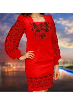 Плаття, червоний габардин (6075)