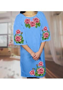 Плаття, голубий габардин (6082)