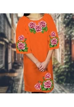 Плаття, оранжевий габардин (6082)