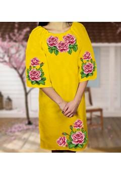 Плаття, жовтий габардин (6082)