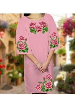 Плаття, рожевий габардин (6082)