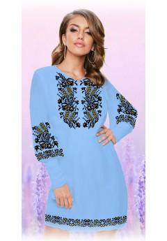 Плаття, голубий габардин (6084)