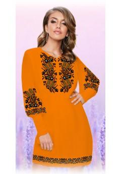 Плаття, оранжевий габардин (6084)