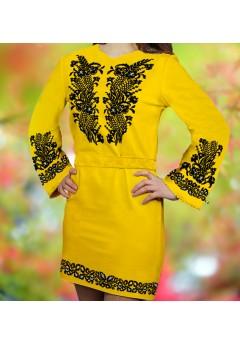 Плаття, жовтий габардин (6084)