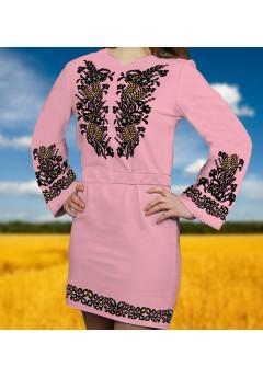 Плаття, рожевий габардин (6084)