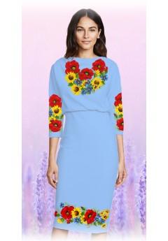 Плаття, голубий габардин (6085)