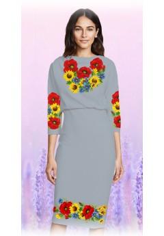 Плаття, сірий габардин (6085)