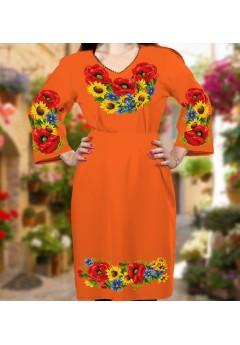 Плаття, оранжевий габардин (6085)