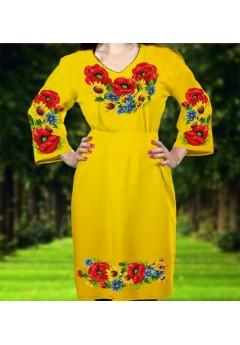 Плаття, жовтий габардин (6085)
