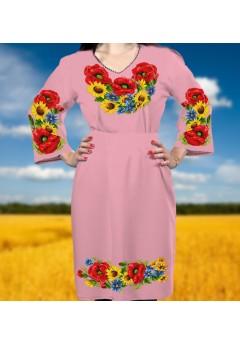Плаття, рожевий габардин (6085)