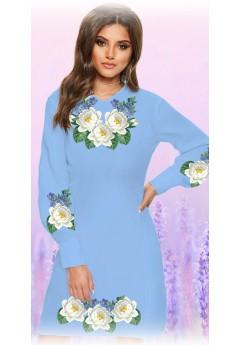 Плаття, голубий габардин (6086)