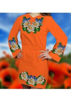 Плаття, оранжевий габардин (6086)