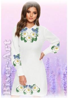 Плаття, льон білий (6086)
