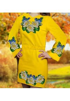 Плаття, жовтий габардин (6086)