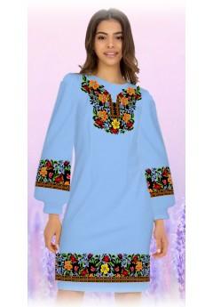 Плаття, голубий габардин (6088)
