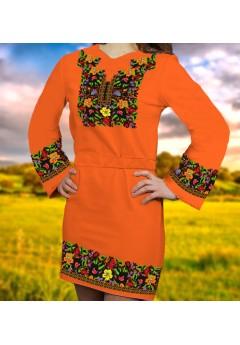 Плаття, оранжевий габардин (6088)