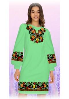Плаття, салатовий габардин (6088)