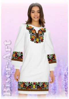 Плаття, льон білий (6088)