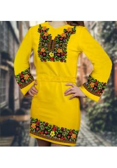 Плаття, жовтий габардин (6088)