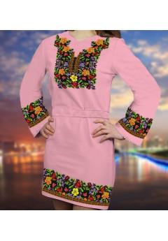 Плаття, рожевий габардин (6088)