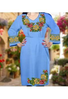 Плаття, голубий габардин (6089)