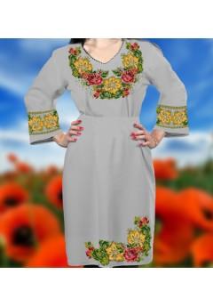 Плаття, сірий габардин (6089)