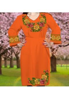 Плаття, оранжевий габардин (6089)