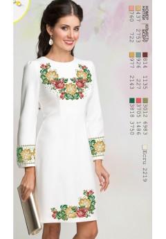 Плаття, льон білий (6089)
